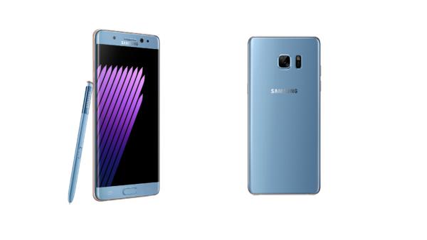Il Samsung Galaxy Note 7 nella nuova colorazione Blue Coral