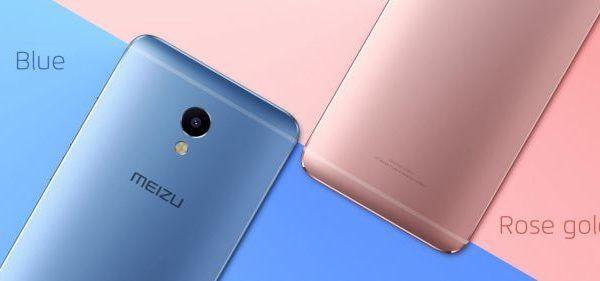 Le colorazioni Blue e Rose Gold del nuovo Meizu M3E