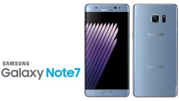 Il Galaxy Note 7 nella nuova colorazione Blue Coral