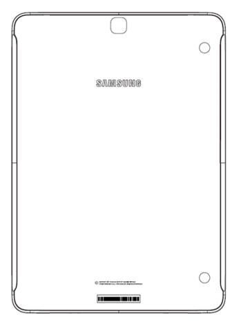 Il retro del nuovo Galaxy Tab S3 da 9.7 pollici