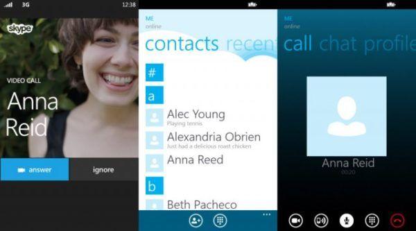 Alcune schermate della versione Windows Phone 8 dell'applicazione