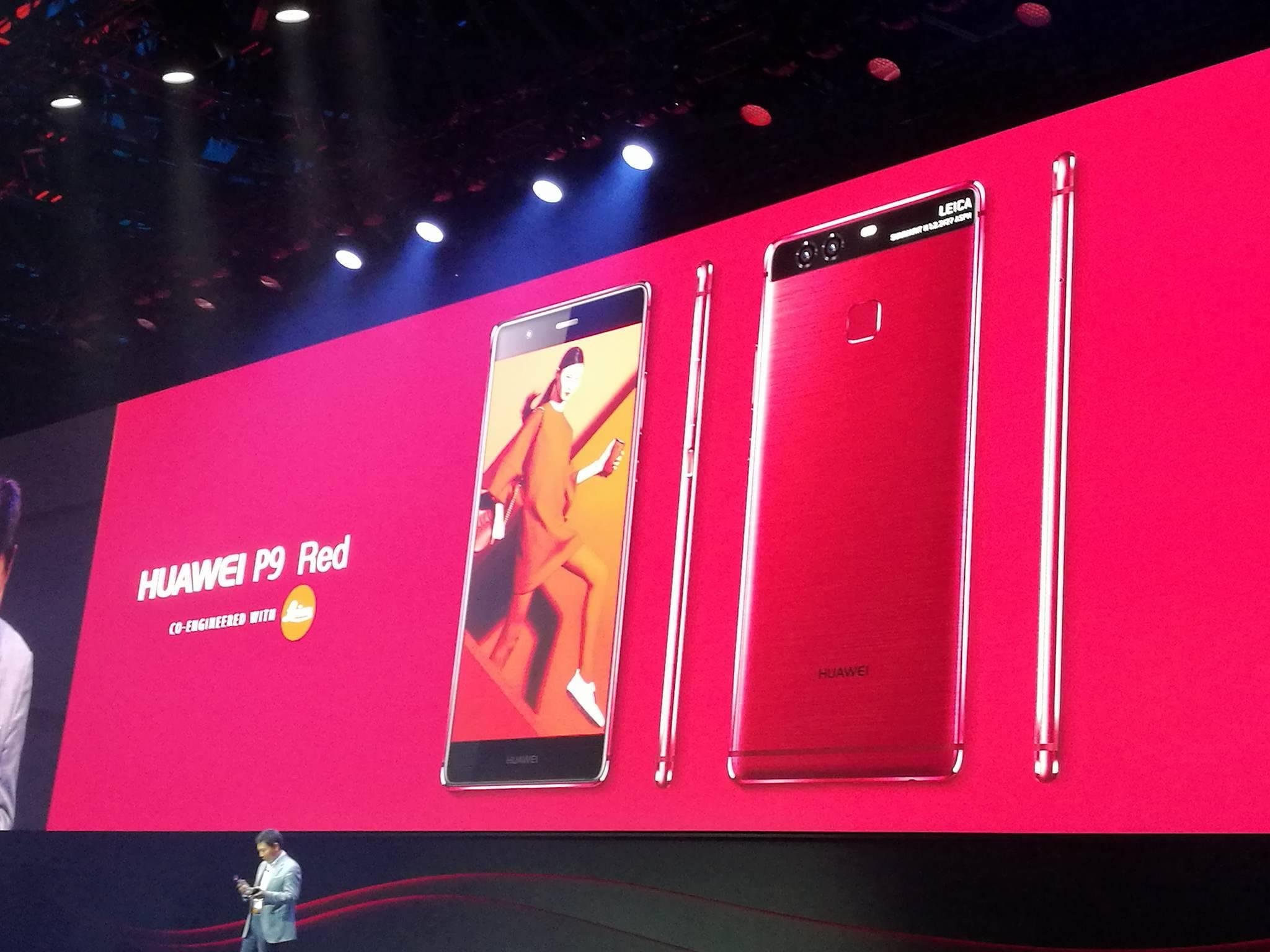 IFA 2016: Huawei presenta le nuove colorazioni Red e Blue per il P9