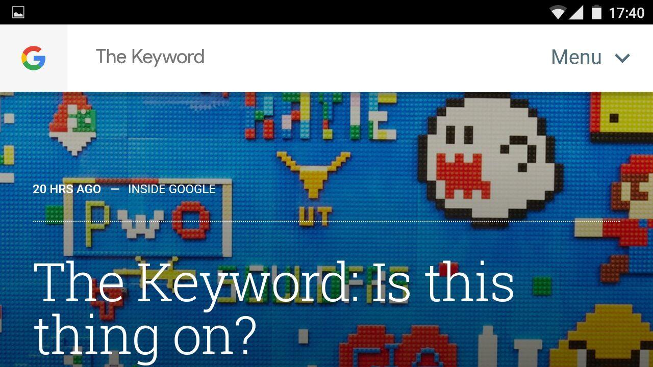 They Keyword è il nuovo blog unico di Google con tutte le novità dell'azienda