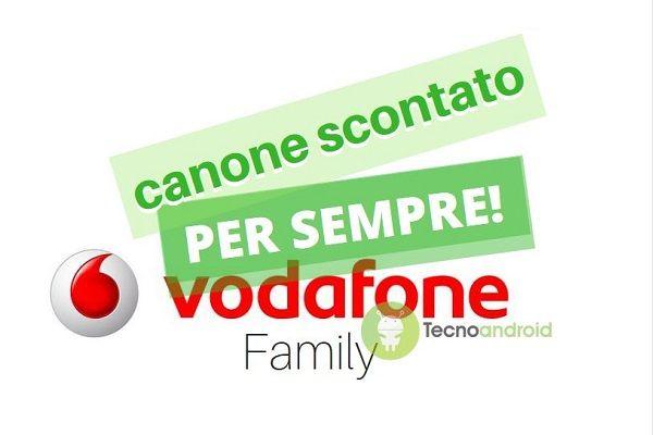 Vodafone: le offerte Family sono scontate per sempre!