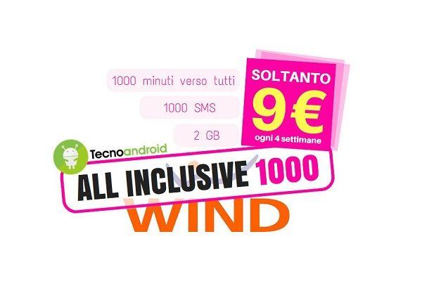 Wind: ecco come attivare la mitica offerta All Inclusive 1000 entro il 18/09