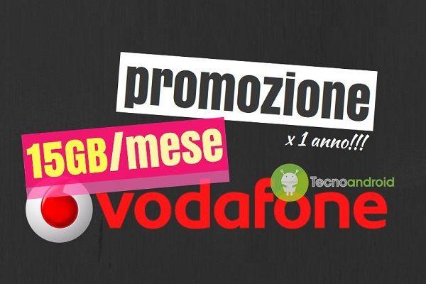Vodafone: domani 15/09 scade la promozione 15 GB al mese per 1 anno