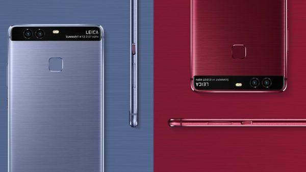 Le nuove colorazioni Red e Blue del Huawei P9, presentate durante IFA 2016