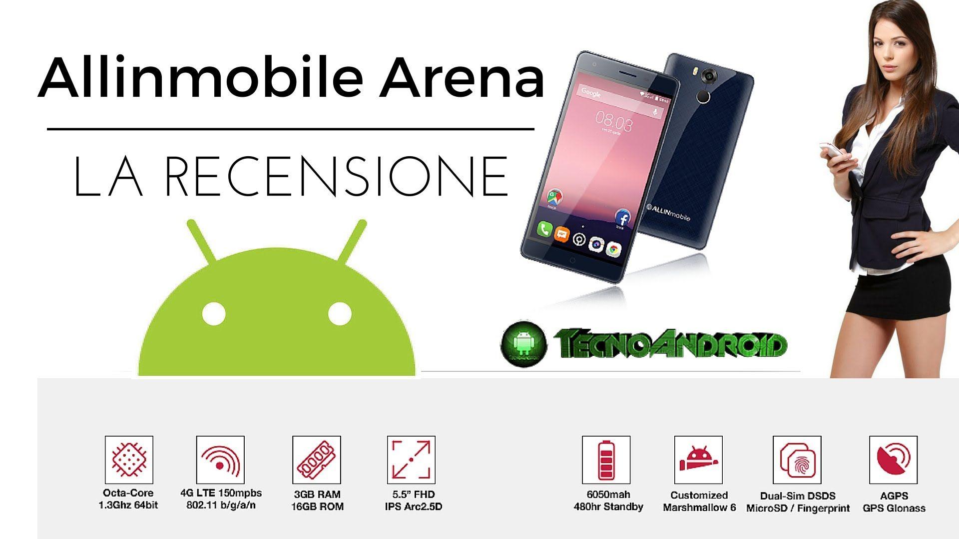 Recensione Allinmobile Arena, lo smartphone italiano