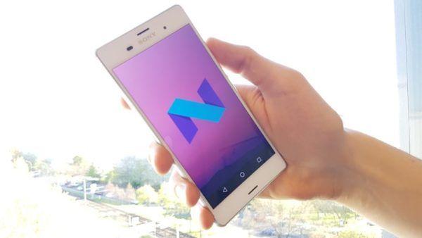 Un Sony Xperia Z3 con a bordo Android Nougat