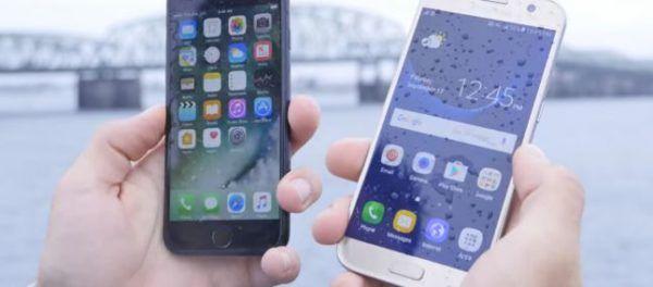 galaxy s7 vs iphone 7