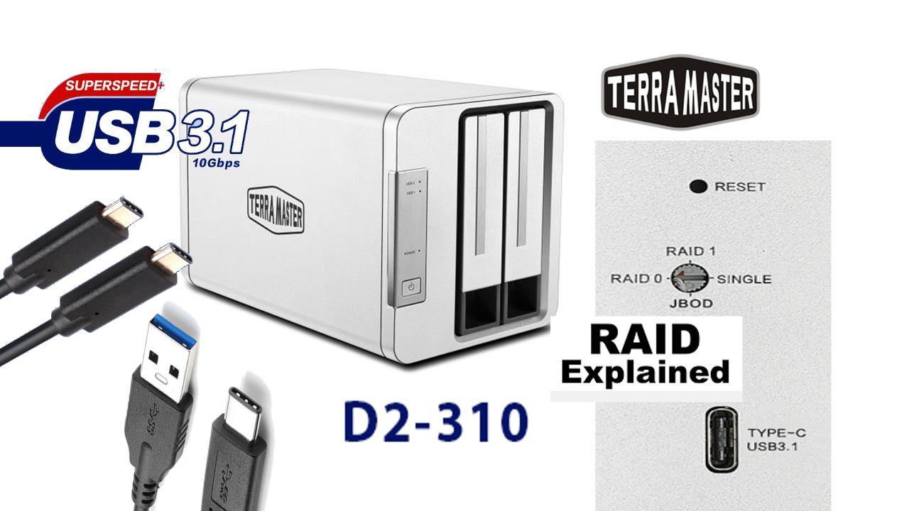 Recensione Terramaster D2-310, il NAS con connessione Type-C 3.1
