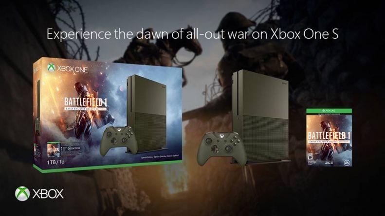 Microsoft: Xbox One S disponibile in bundle con Battlefield 1
