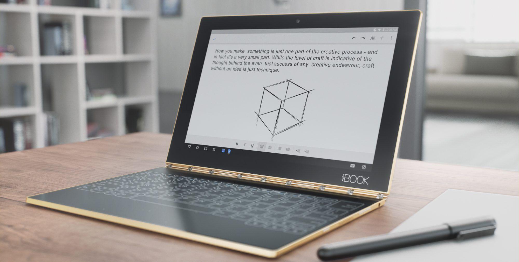 Lenovo pensa ad uno Yoga Book con ChromeOS