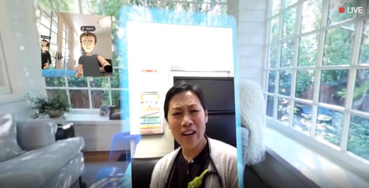 Mark Zuckerberg ci mostra Facebook Messenger in VR con Oculus Rift