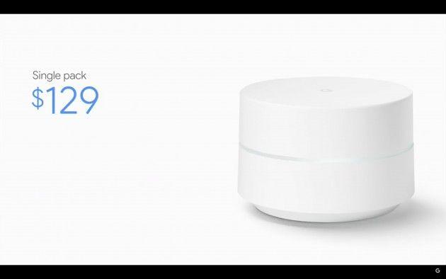Google Wifi annunciato a 129$, spedizioni da Dicembre