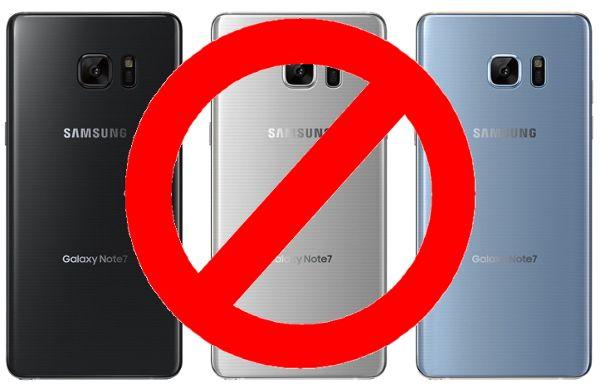 """Samsung Galaxy Note 7: vietato portarlo in aereo è """"materiale pericoloso proibito"""""""