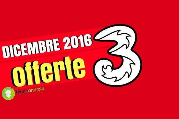 3 Italia annuncia le 'nuove' offerte da attivare a dicembre