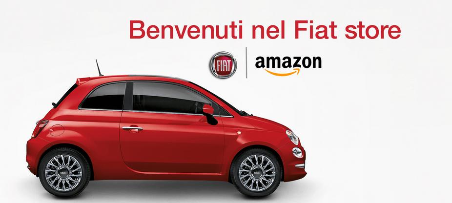 Da oggi è possibile acquistare una Fiat 500 o Panda su Amazon
