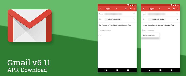 Gmail si aggiorna alla versione 6.11 introducendo il testo quotato