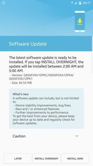 Android Nougat Beta Galaxy S7