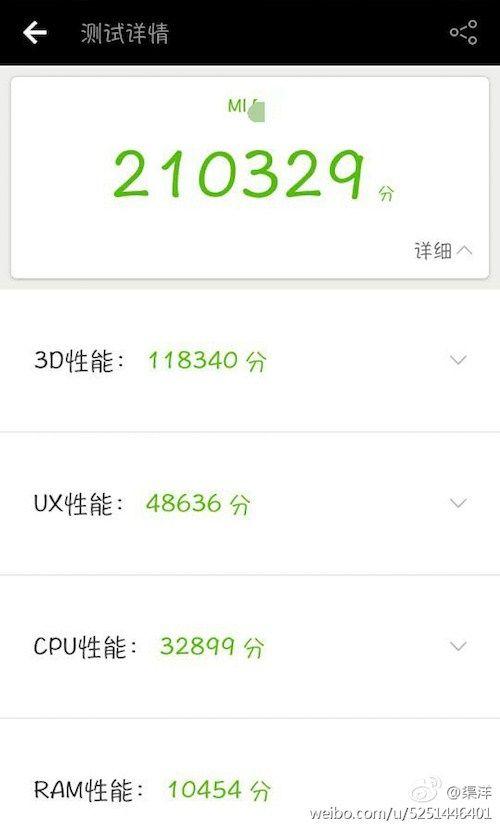 Xiaomi Mi 6 AnTuTu