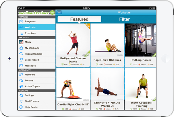 workout trainer ios android