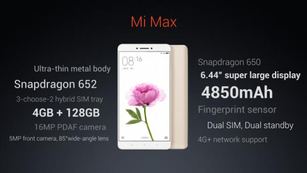 Xiaomi Mi Max 2 rumors