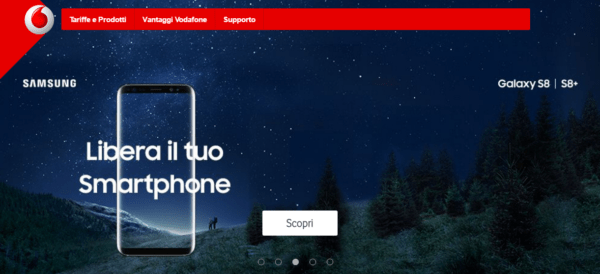 Vodafone Galaxy s8