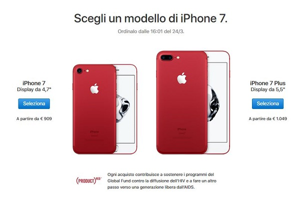 Nuovi iPhone 7 RED
