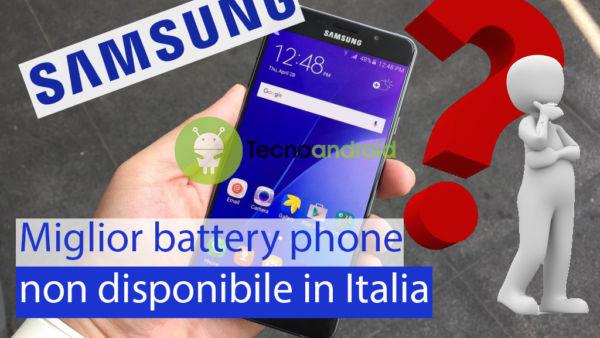 Samsung Galaxy A7 (2017) miglior battery phone non disponibile in Italia