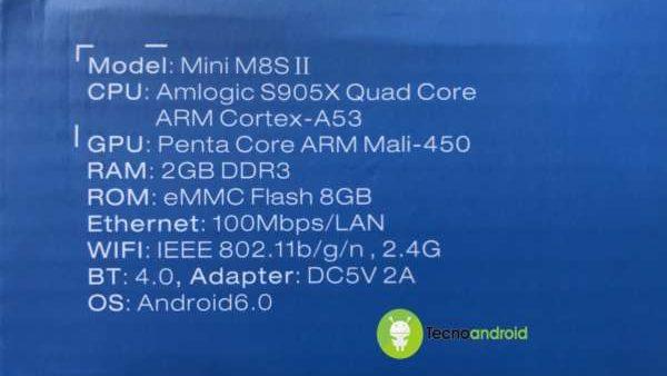 scheda tecnica mini m8s ii