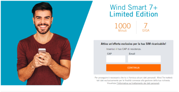 Wind Smart 7 Plus torna con 1000 minuti e 7 Giga