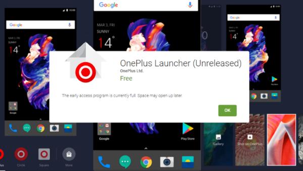 OnePlus Launcher pubblicato per errore sul Play Store e ritirato immediatamente