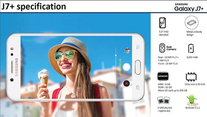 Galaxy J7+ sarà il secondo dispositivo Samsung con dual camera