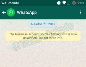 Whatsapp verifica business