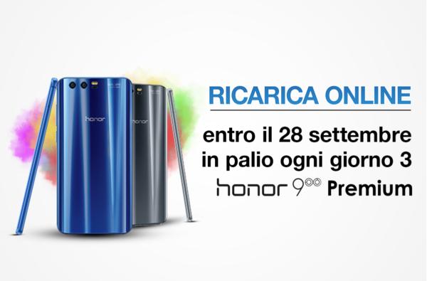 Tre Italia lancia un concorso per vincere un Honor 9 Premium