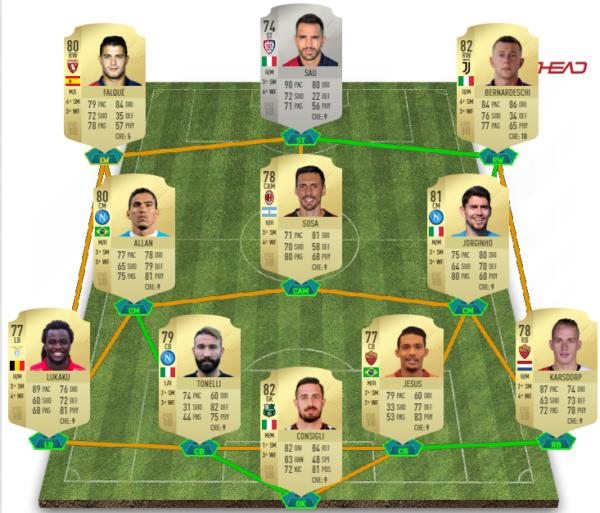 Fifa 18 Squad Builder Ecco Una Serie A Ottima Per Iniziare
