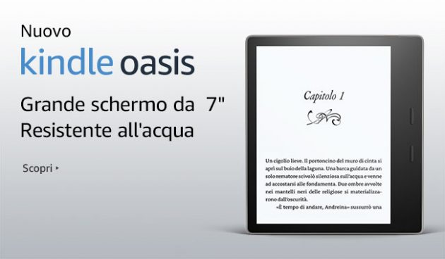 Kindle Oasis, bello e sopratutto resistente all'acqua