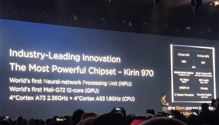 Huawei Mate X Porsche Design, il Kirin 970