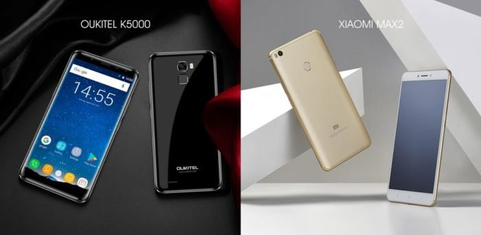 Oukitel K5000 vs Xiaomi Mi MAX 2