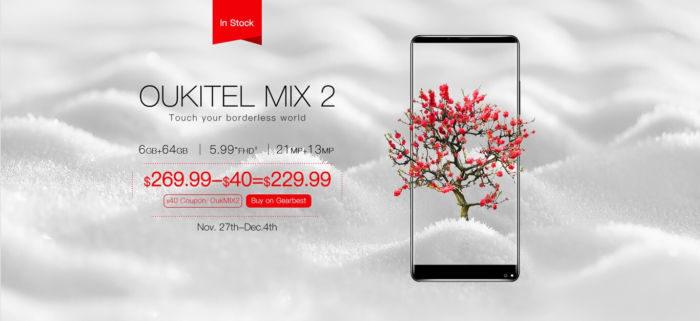 OUKITEL MIX 2 finalmente disponibile all'acquisto