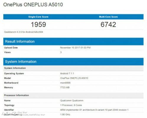 OnePlus 5T: ecco i punteggi totalizzati su Geekbench 4