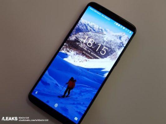 OnePlus 5T sfoggia il suo enorme display da 6,01 pollici FHD+ in 18: 9