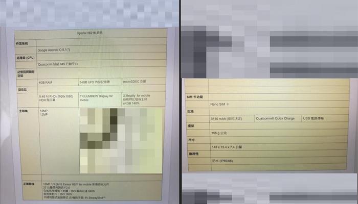 Sony Xperia XZ2, le possibili caratteristiche