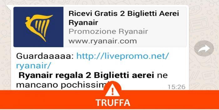 Ryanair replica dopo la bufala su WhatsApp