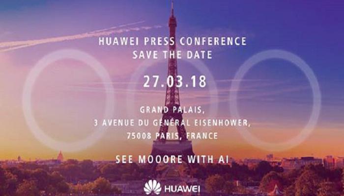 Huawei P20, l'invito all'evento di presentazione
