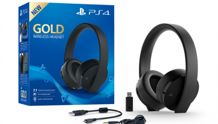 Nuove cuffie Gold Wireless per Playstation
