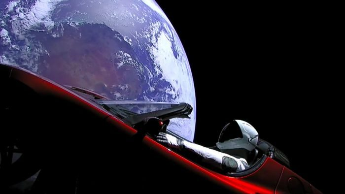 tesla spacex starman falcon heavy elon musk