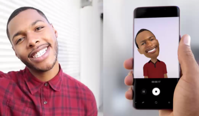 Galaxy S9 emoji AR