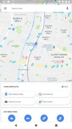 Google Maps 9.72.2 pulsanti